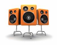 högtalare 3d Arkivfoto