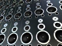 högtalare 3d Fotografering för Bildbyråer