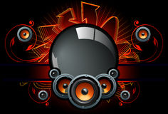 högtalare för bakgrundskompdark Royaltyfri Bild