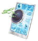 högtalare för begreppssymbolstelefon Arkivbilder