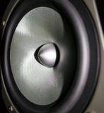 högtalare för tät utrustning för audio musikalisk upp Arkivbilder
