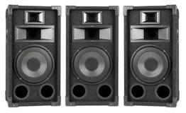 högtalare för tät utrustning för audio musikalisk upp Fotografering för Bildbyråer