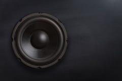 högtalare för tät utrustning för audio musikalisk upp Royaltyfria Foton