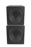 högtalare för tät utrustning för audio musikalisk upp Arkivfoto