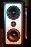 högtalare för tät utrustning för audio musikalisk upp audiomixerutrustningmusikal upp stämma Royaltyfria Bilder