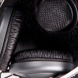 Högtalare, mikrofon och hörlurar Arkivbilder