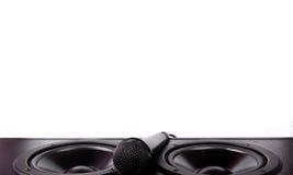 Högtalare och mikrofon Royaltyfria Bilder