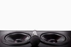 Högtalare och mikrofon Arkivbild