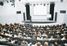Högtalare på presentationen Arkivbild