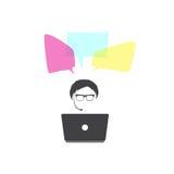 Högtalareman vektor för anförande för bubbladiagramperson talande vektor Royaltyfri Bild