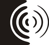 högtalaresymbol Arkivfoto