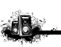 högtalarevektor royaltyfri illustrationer
