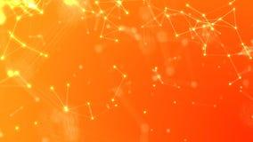 Högteknologisk knyta kontakt illustration för abstrakt orange Plexusbakgrund arkivbild