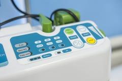 Högteknologisk medicinsk utrustning i sjukhus Arkivbild