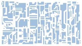 Högteknologisk modell stock illustrationer