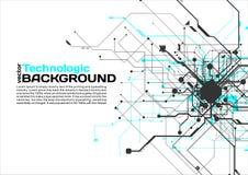 högteknologisk stil för science fiction för cyberpunk för teknologiabsractbakgrund Royaltyfria Bilder