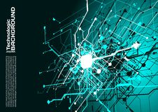 högteknologisk stil för science fiction för cyberpunk för teknologiabsractbakgrund Royaltyfri Foto