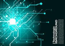 högteknologisk stil för science fiction för cyberpunk för teknologiabsractbakgrund Royaltyfri Bild