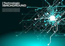 högteknologisk stil för science fiction för cyberpunk för teknologiabsractbakgrund Arkivbilder