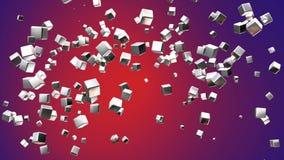 Högteknologiska kuber för TV-sändningflyg, rödbrunt som är företags, Loopable, 4K