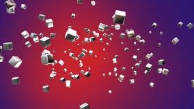 Högteknologiska kuber för TV-sändningflyg, rött som är företags, Loopable, 4K