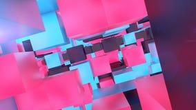 Högteknologiska Lego Cubes Illustration Arkivbilder