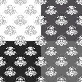 Högtidlig svart vit sömlös modell också vektor för coreldrawillustration Royaltyfri Foto