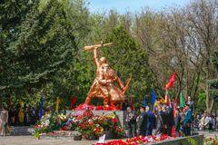 Högtidliga händelser för Victory Day Royaltyfria Bilder