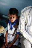 Högtrycks- av indiska studenter Arkivbild
