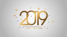 Högvärdig bakgrund 2019 för lyckligt nytt år för vektorillustration för nytt hälsa kort och annat stor modern och lyxig design royaltyfri illustrationer