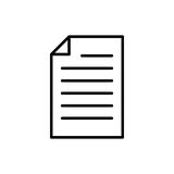 Högvärdig dokumentsymbol eller logo i linjen stil Fotografering för Bildbyråer