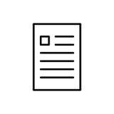 Högvärdig dokumentsymbol eller logo i linjen stil Arkivfoton
