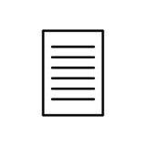 Högvärdig dokumentsymbol eller logo i linjen stil Arkivbild