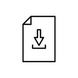 Högvärdig dokumentsymbol eller logo i linjen stil royaltyfri illustrationer