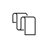 Högvärdig dokumentsymbol eller logo i linjen stil Arkivbilder