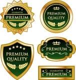 Högvärdig för guldmedaljetikett för kvalitets- garanti samling Royaltyfri Illustrationer