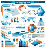 Högvärdig infographicsförlagesamling Arkivfoto