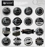 högvärdig kvalitet för eleganta etiketter Fotografering för Bildbyråer