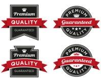 Högvärdig kvalitet garanterad etikett Fotografering för Bildbyråer