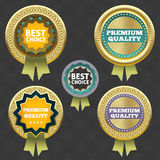 Högvärdig kvalitet och bästa prima etikett. Royaltyfria Foton