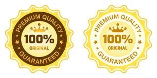 Högvärdig kvalitets- etikett 100 Fotografering för Bildbyråer