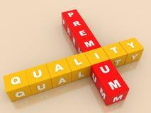 Högvärdig kvalitets- etikett för on-line lager Royaltyfri Fotografi