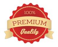Högvärdig kvalitets- etikett i tappningstil Arkivbild