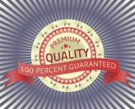 Högvärdig kvalitets- etikett med origami Royaltyfri Bild