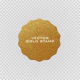 Högvärdig kvalitets- guld- etikett Guld- tecken Skinande lyxigt emblem Mest bra val, pris vektor illustrationer