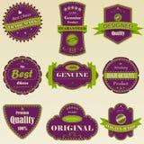 högvärdig kvalitetsetikett Arkivbild