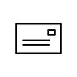 Högvärdig postsymbol eller logo i linjen stil Arkivfoton
