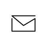 Högvärdig postsymbol eller logo i linjen stil Arkivbilder