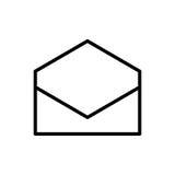 Högvärdig postsymbol eller logo i linjen stil Royaltyfri Foto
