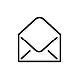 Högvärdig postsymbol eller logo i linjen stil Arkivbild